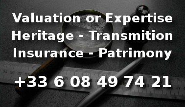 Antiques expertise for patrimonial estimation, insurance or heritage