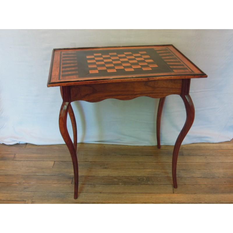 Ebony game table