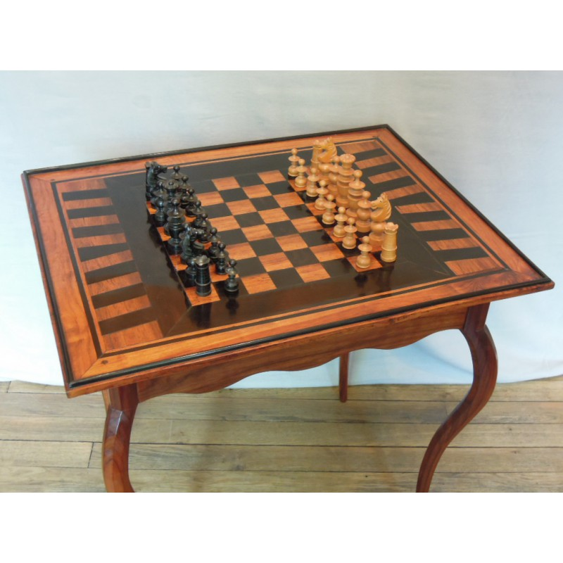 Padouk And Ebony Game Table 18th Century Chess Board