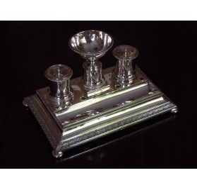 Sterling silver inkstand, french first Empire