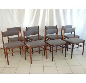 Suite de 8 chaises scandinaves en palissandre