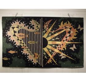 Tapisserie moderniste de Jean Picart le Doux : Ciel et Mer