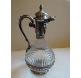 Crystal and sterling silver ewer for Russia
