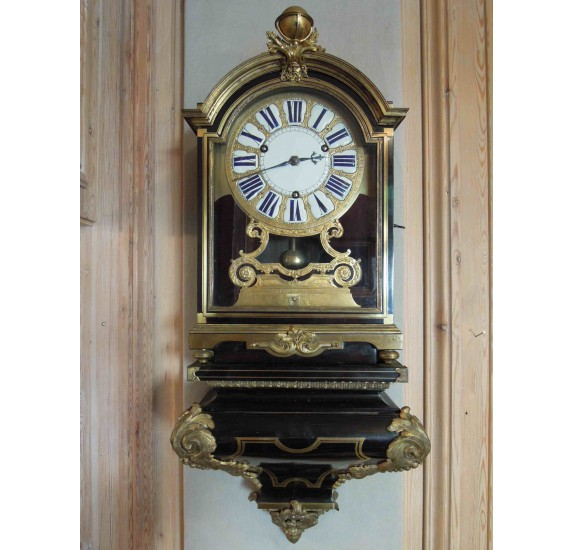 Ebony wall clock, 18th century