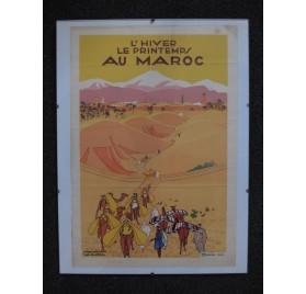 Affiche Art Déco de Derche : l'hiver le printemps au Maroc