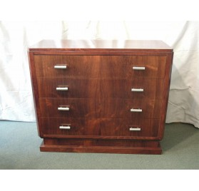 Art Deco rosewood dresser drawers