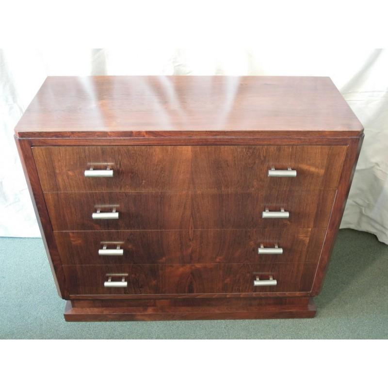 rosewood dresser drawers art deco era. Black Bedroom Furniture Sets. Home Design Ideas