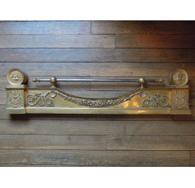 Iron fire bar, 19th century