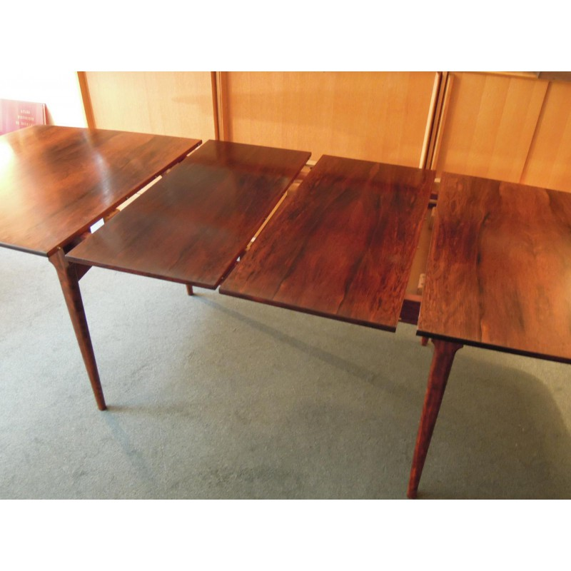 Great rosewood table scandinavian design for Table rectangulaire scandinave