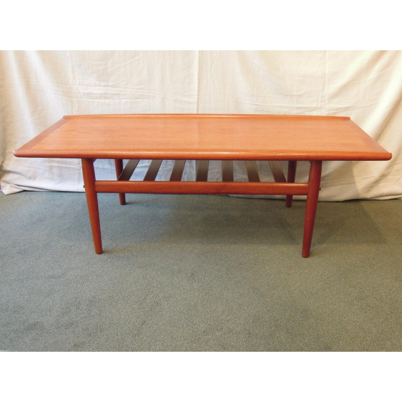 Sold. Danish teak coffee table by Grete Jalk