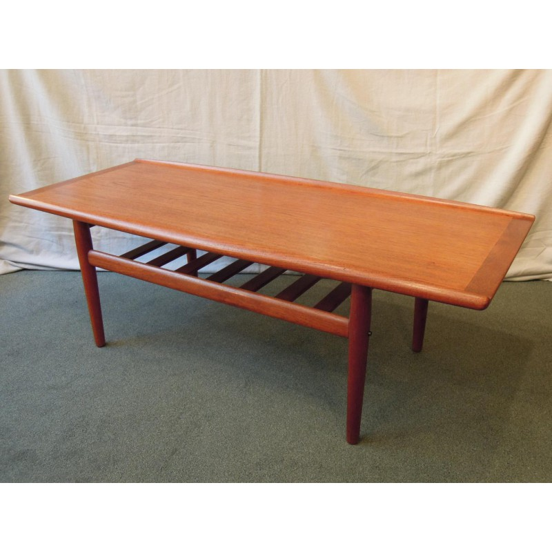 Scandinavian Teak Coffee Table: Sold. Danish Teak Coffee Table By Grete Jalk