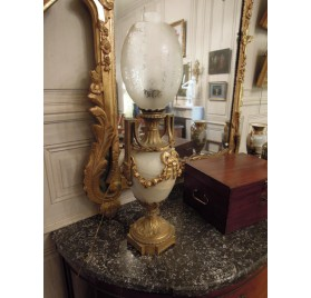 Lampe Napoléon III en onyx et bronze
