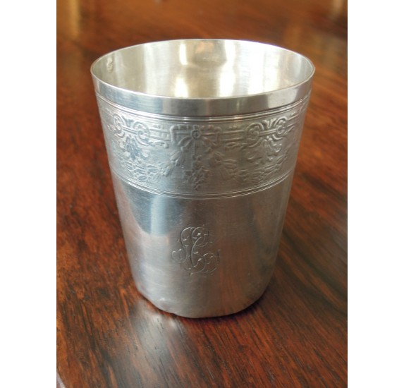 Sterling silver timbal by Boulenger, Art Nouveau