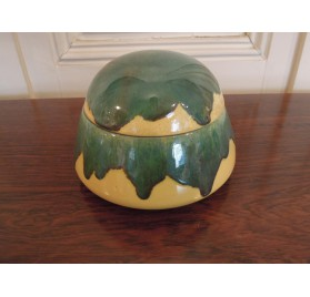 Art Deco glazed ceramic candy box by Lacheny.