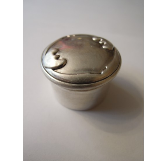 Sterling silver pill box or snuff box