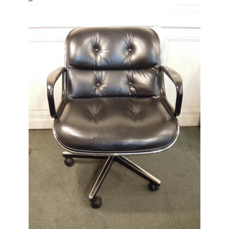 vendu fauteuil de charles pollock mod le 12e1 dit par knoll. Black Bedroom Furniture Sets. Home Design Ideas