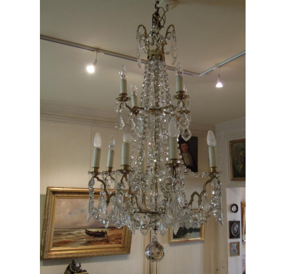 Large crystal chandelier, 19th century