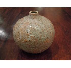 Vase boule ou soliflore en terre cahmottée de Raymond Louis Quillivic