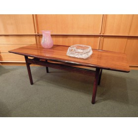 Rosewood coffee table designed by Grete Jalk, Poul Jeppensen (ed)