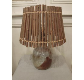 50s stoneware lamp by Drillon, Puisaye