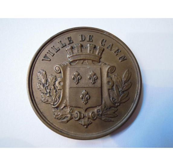 Caen bronze medal in its case