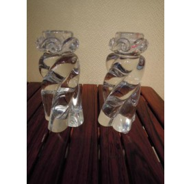 Baccarat crystal candlesticks, Aladin model