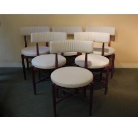 6 teak chairs, scandinavian style, by G-Plan