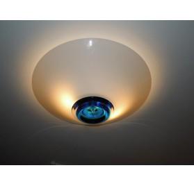 Conical ceiling lamp by De Majo in Murano two-tone glass