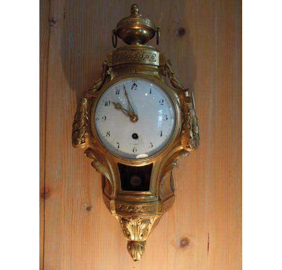 Gilt bronze wall clock, Louis XVI era