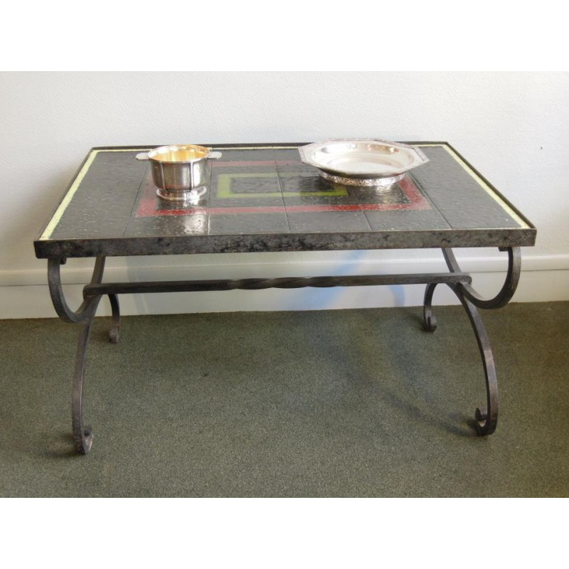 Very Smart Coffee Table Attributed To Jacques Adnet