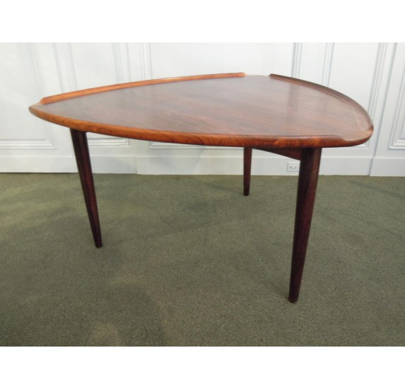 "Rosewood coffee table ""Pick"" by Poul Thorsbjerg Jensen & Silkeborg"
