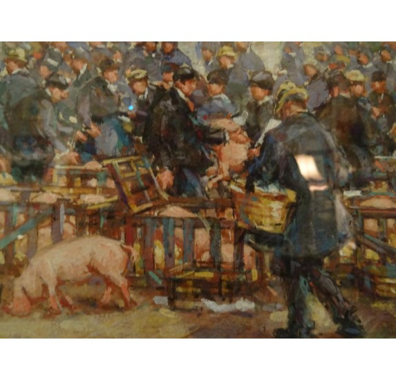 Le marché aux cochons à Coutances par Richard Le Blanc