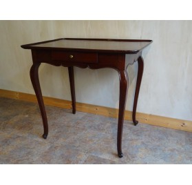 18th century cabaret table in solid mahogany