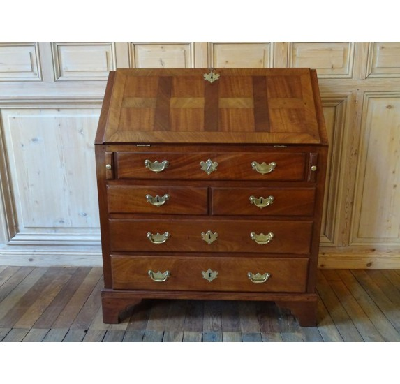 Solid mahogany scriban desk from St Malo.