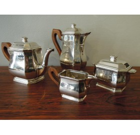 Art Deco solid silver coffee and tea service set