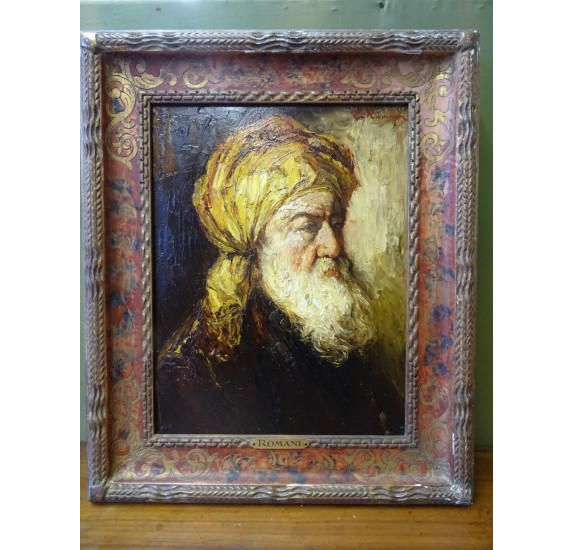 Orientalist oil on canvas signed by Romani