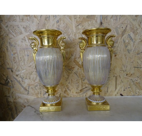 Pair of porcelain vases, Empire period