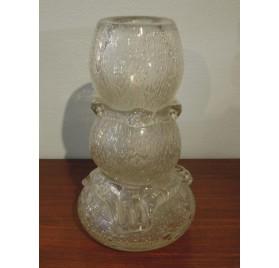 Vase Schneider en verre bullé, modèle aux cordons