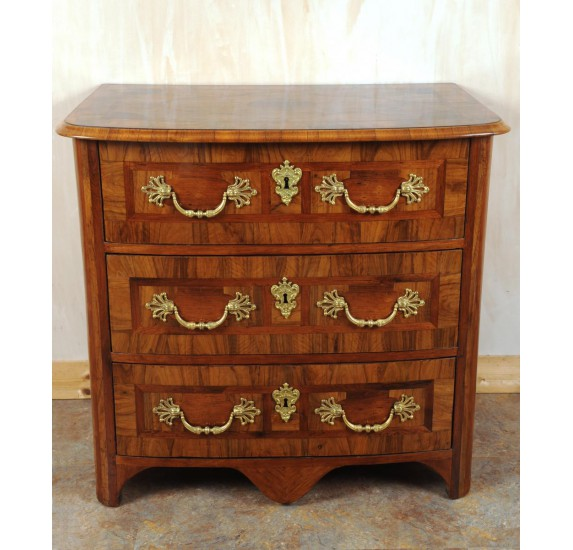 Louis XIV olive wood chest of drawers