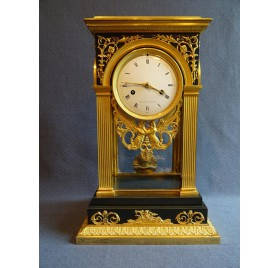 Gilt bronze portico clock, Empire period
