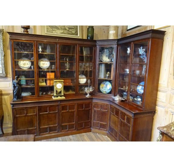 Bertram & Son mahogany english bookcase