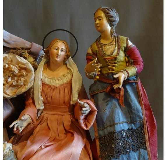 Crèche napolitaine du XVIIIe siècle : la Nativité
