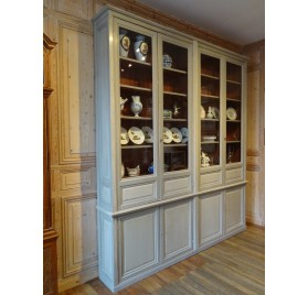 Late 19th century painted wooden bookcase
