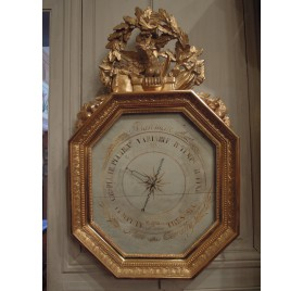 French Empire giltwood barometer, 19th century