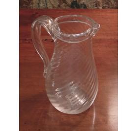 Pichet à eau en verre normand, fin du XVIIIe