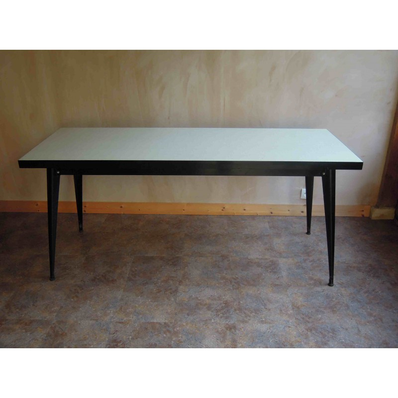 ... Vintage Tolix Large Refectory Table, Formica Top ...