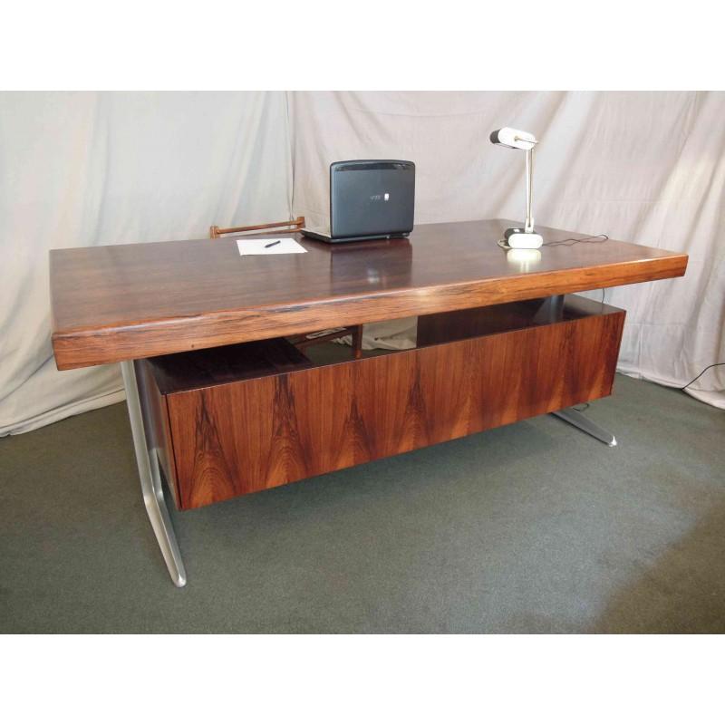 bureau de direction scandinave en palissandre de rio havas antiquites. Black Bedroom Furniture Sets. Home Design Ideas