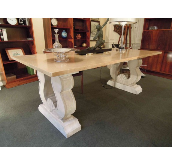 Large Art Deco table attributed to J.C. Moreux