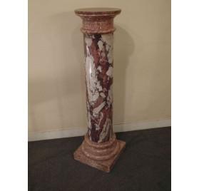 Colonne en terre cuite imitation marbre - terracotta