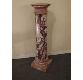 Terracotta column, marble imitation